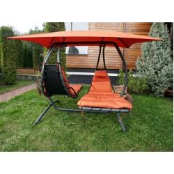 Двойное подвесное кресло качели LUNA-CONSEPT (оранжевые) + балдахин в подарок