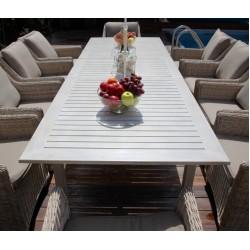 Стол обеденный Тоскана из алюминия раскладной