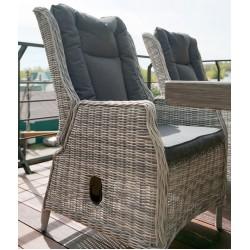 Регулируемое кресло из ротанга Верона с подушками