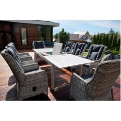Комплект мебели стол ТОСКАНА (алюминий) + 6 кресел ВЕРОНА (ротанг)