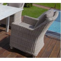 Кресло Тоскана  с подушками искусственный ротанг