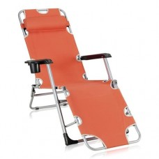 Кресло-шезлонг складное Прима Terracott