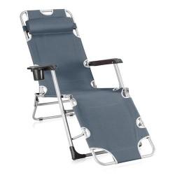 Кресло-шезлонг складное Прима Grey