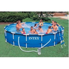Бассейн каркасный 457х91см Intex Metal Frame Pool - 54942