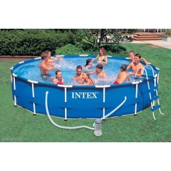 Бассейн каркасный 457х91см Intex Metal Frame Pool - 54942