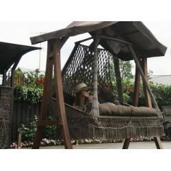 Деревянный с крышей каркас КАРАВЕЛЛА для качелей СЕАРА