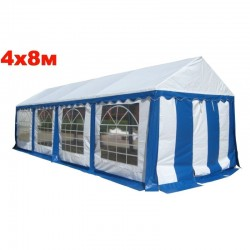 Шатер павильон 4x8 м синий
