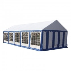 Шатер павильон 4x10 м  Синий, белый