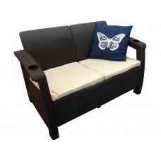 Двухместный пластиковый диван Yalta Sofa 2 Seat