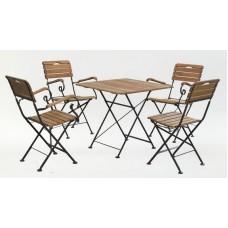 Комплект мебели стол квадратный и 4 стула