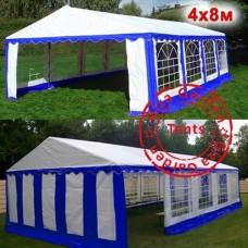 Шатер павильон 4x8 сине-белый
