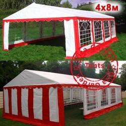 Шатер павильон 4x8 красно-белый