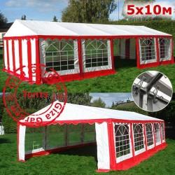 Шатер павильон 5х10м белый-красный