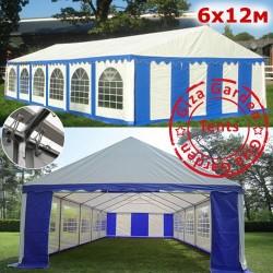 Шатер павильон 6х12м белый-синий