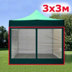 Комплект москитных стен 3х3м зеленый