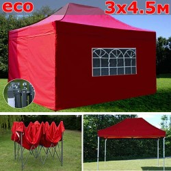 Быстросборный шатер-гармошка со стенками 3х4,5м красный