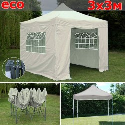 Быстросборный шатер-гармошка со стенками 3х3м белый