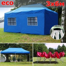 Быстросборный шатер со стенками 3х6м синий