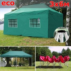 Быстросборный шатер со стенками 3х6м зеленый