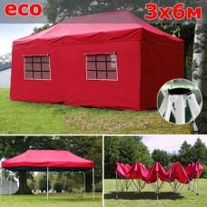 Быстросборный шатер со стенками 3х6м красный