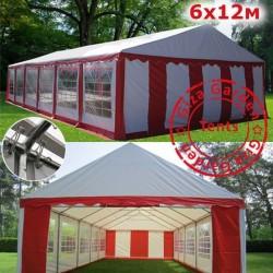 Шатер Giza Garden 6x12м красный белый