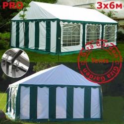 Шатер Giza Garden 3x6м белый зеленый