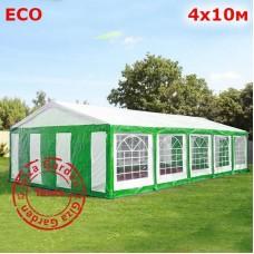Шатер Giza Garden 4x10м бело-зеленый