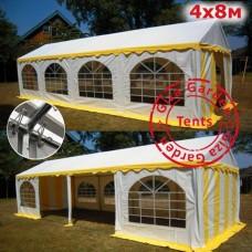 Шатер Giza Garden 4x8 белый желтый