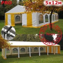 Шатер Giza Garden 5x12м белый желтый