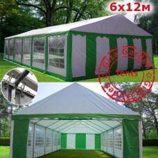 Шатер Giza Garden 6x12м зеленый белый