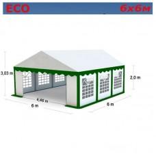 Шатер Giza Garden 6x6м зелено-белый