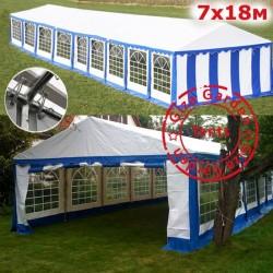 Шатер павильон Giza Garden 7x18 белый синий