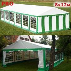 Шатер павильон Giza Garden 8x12м бело-зеленый