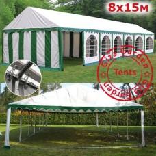 Шатер павильон Giza Garden 8x15m белый зеленый