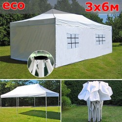 Быстросборный шатер со стенками 3х6 белый