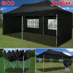Быстросборный шатер со стенками 3х6 черный