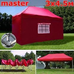 Шатер автомат 3x4,5м Master красный
