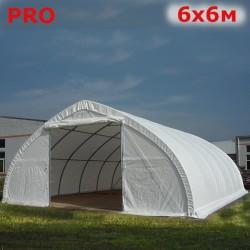 Ангар тент 6х6м Pro белый