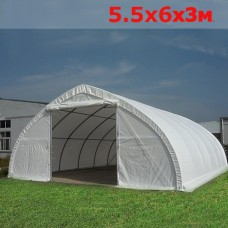 Ангар тентовый 5.5x6м белый