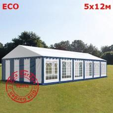 Павильон шатер 5х12 белый синий Эко