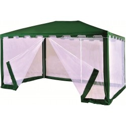 Садовый тент шатер с москитной сеткой (Green Glade 1044) 3х4м