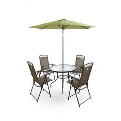 Комплект мебели со складным  зонтом (яблочно-зеленым) TJF-T007-GN