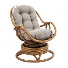 Кресло-качалка Kara с подушкой. Ротанг