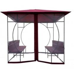 Тент беседка со скамейками Ньюпорт 3х3 м