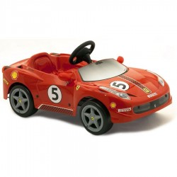 Детский электромобиль Ferrari 458 Challenge с электрическим мотором 6V