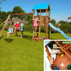 Детские городки Jungle Castle+SwingModule Xtra+RockModule