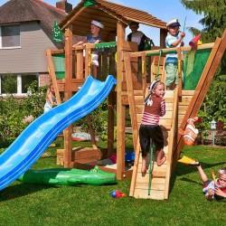 Детские городки Jungle Cottage + Boat Module