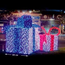 LED Коробка подарок белый, красный