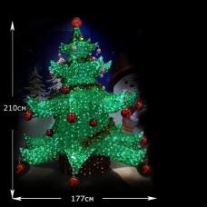 """Акриловая LED """"Елка новогодняя"""" высота 2.1м"""