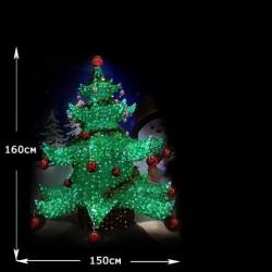 """Акриловая LED """"Елка новогодняя"""" высота  1.6 м"""